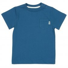 Basic boy blue t-shirt in organic cotton