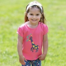 Giraffe t-shirt in organic cotton
