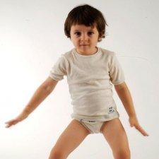 Maglia intima per bambino in cotone biologico equosolidale 2 pz