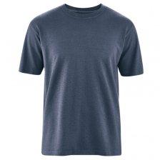 T-shirt Basic in Canapa e Cotone Biologico Blu Acciaio