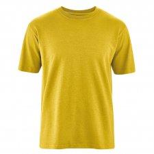 T-shirt Basic in Canapa e Cotone Biologico Curry