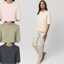 T-shirt boxy Fringer da donna in cotone biologico pesante
