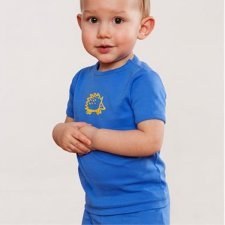 T-shirt boy short sleeve in organic cotton.