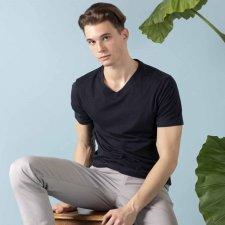 T-shirt EasyBio collo a V da uomo in Cotone Biologico