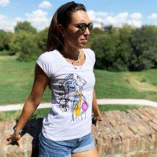 T-shirt Donna Prithvi in cotone biologico equo