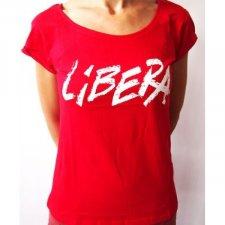 T-shirt Donna Libera rosso in cotone biologico equo