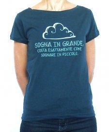T-shirt Donna Sognare in Grande in cotone biologico equo