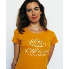 T-shirt Donna Sovrappensiero in cotone biologico equo