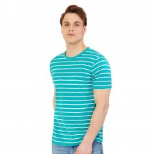 T-shirt for men in hemp and organic cotton Ceramic striped