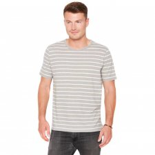 T-shirt for men in hemp and organic cotton Flint Grey striped