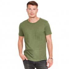 T-shirt for men in hemp and organic cotton khaki
