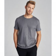 T-shirt for men in hemp and organic cotton steel grey