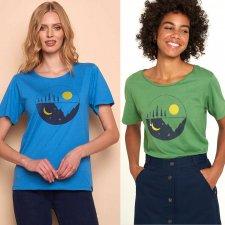 T-shirt KUNTO da donna in cotone biologico e viscosa