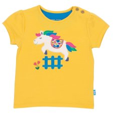 T-shirt per bambina Pony in cotone biologico