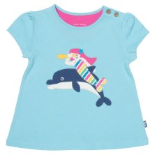 T-shirt per bambina Sirena in cotone biologico
