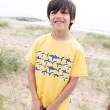 T-shirt per bambino Squali in cotone biologico