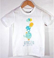 T-shirt Più Forti in cotone biologico equo