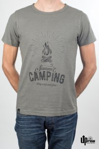 T-shirt Summer Camping in canapa e cotone biologico