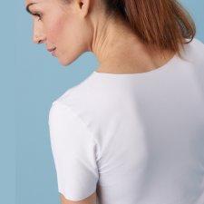 T-shirt taglio laser in fibra vegetale di faggio