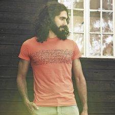 T-shirt Typo for men in hemp and organic cotton