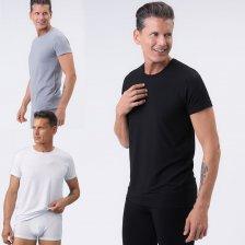 T-shirt Uomo girocollo in fibra vegetale di faggio