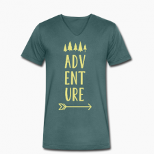 T-shirt uomo in cotone biologico Adventure
