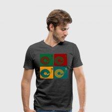 T-shirt uomo in cotone biologico Giradischi