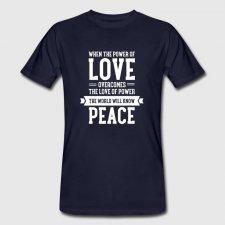 T-shirt uomo in cotone biologico Love