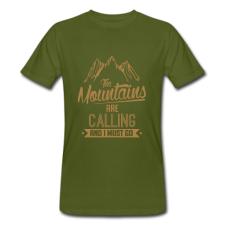 T-shirt uomo in cotone biologico Montagna