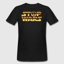T-shirt uomo in cotone biologico Stop Wars