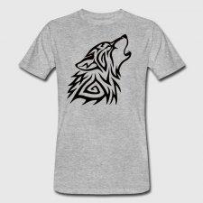T-shirt uomo in cotone biologico Lupo Tribal