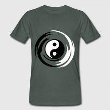 T-shirt uomo in cotone biologico Yin Yang
