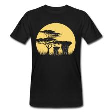 T-shirt uomo in cotone biologico Africa nero