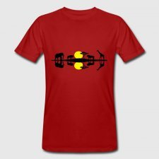 T-shirt uomo in cotone biologico Africa rosso