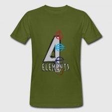 T-shirt uomo in cotone biologico 4 Elementi