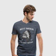 T-shirt uomo in cotone biologico Nativo Americano