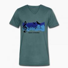 T-shirt uomo in cotone biologico Pentagramma