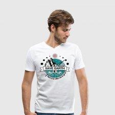 T-shirt uomo in cotone biologico Save Earth
