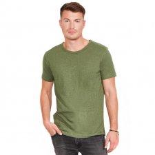 T-shirt uomo Verde Khaki in canapa e cotone biologico