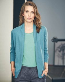 Women's knitted jacket in hemp and organic cotton