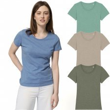 T-shirt woman Expresser Melange in organic cotton