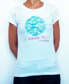 T-shirt woman Foolish in organic fair trade cotton