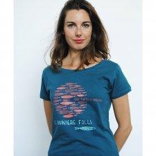 T-shirt woman Foolish in organic fair trade cotton