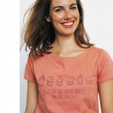 T-shirt woman Sweet in organic fair trade cotton