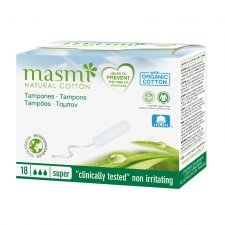 Tampons in organic cotton Masmi - Super