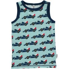Tank top vest Race Cars in organic cotton