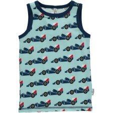 Tank top vest Race Cars in organic cotton