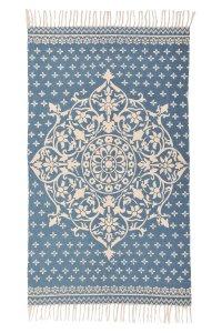 Tappeto ORIENTAL BLUE 90x150 in puro cotone GoodWeave
