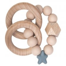 Teething Stellar in natural wood and silicone Oat