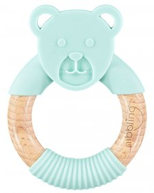 Teething Toy Chewy Bear in wood and silicone